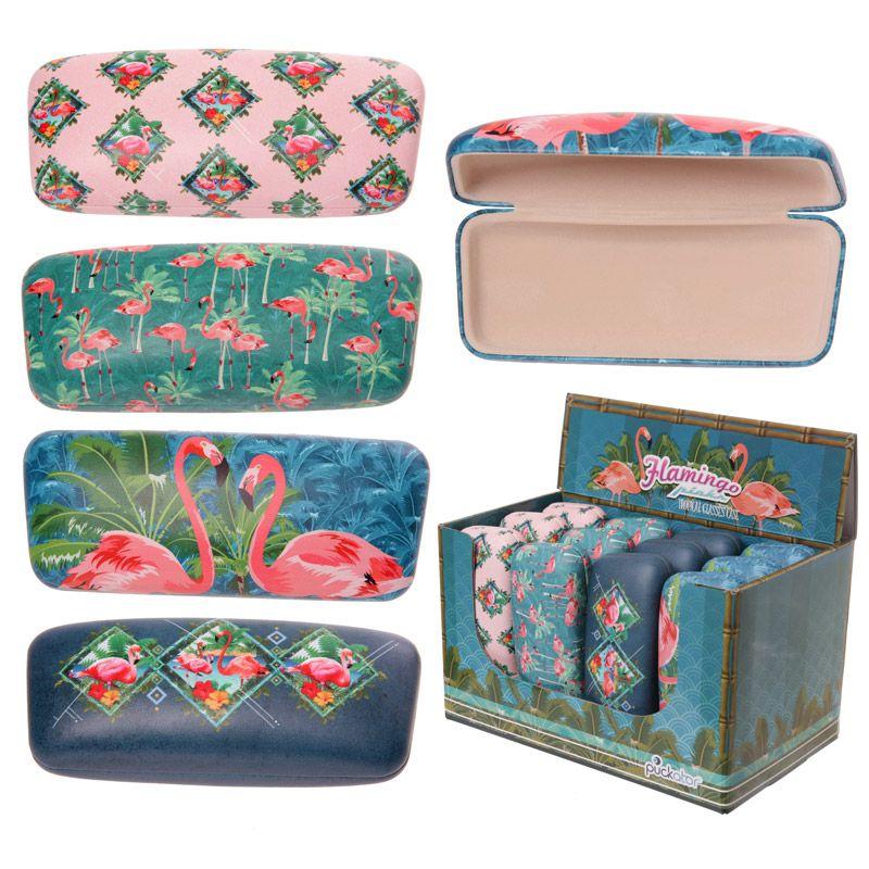 magasiner pour le luxe expédition gratuite 100% authentifié Etui à lunettes de soleil Tropical Flamingo - Flamants roses