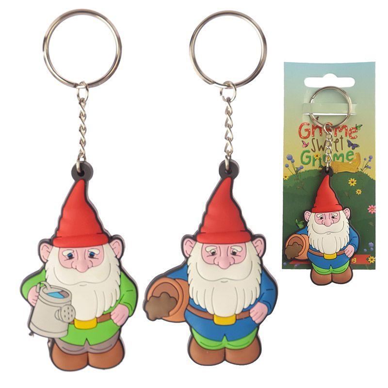 Porte-clé PVC - Gnome Nain de Jardin