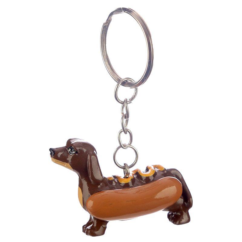 Belle Saucisse chien//teckel Porte-clés Cuir NEUF Boden