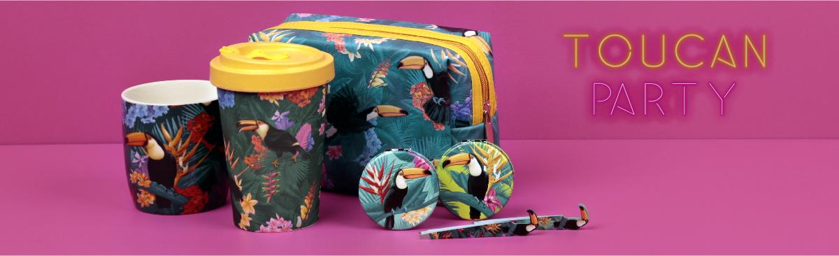 Rejoignez les designs tropicaux avec Fiesta Toucan !