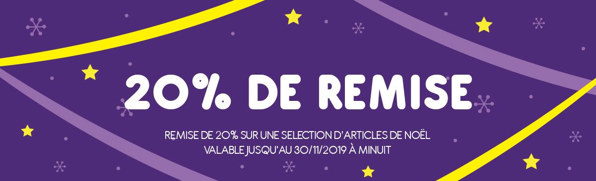 -20% Offre de Noël!