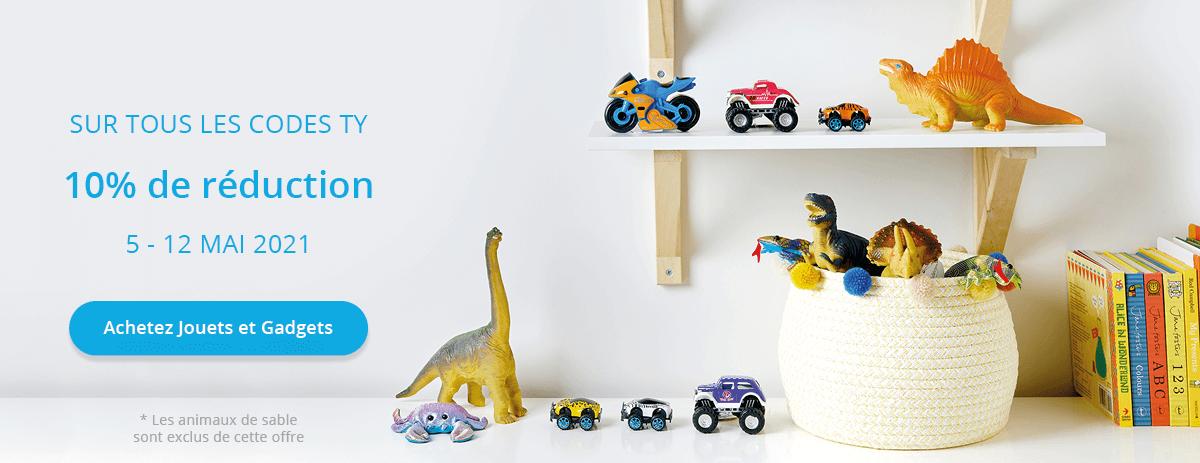 10% de remise sur les jouets et gadgets jusqu'au 12 mai minuit
